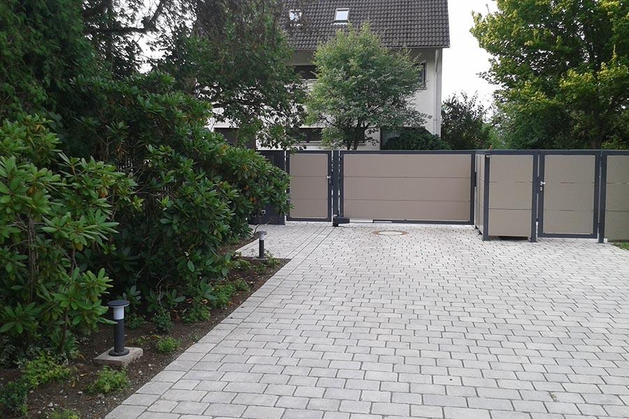 Gestaltung von gewerblichen Außenanlagen