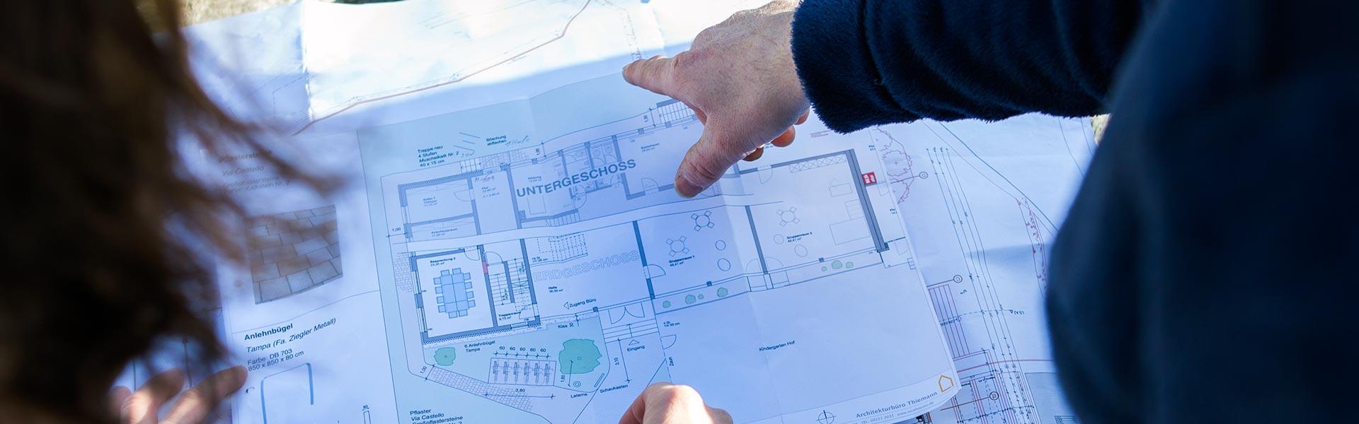 Planung von Garten- und Landschaftsgestaltungen